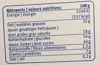 Choc Midor Assortiment - Nutrition facts - fr