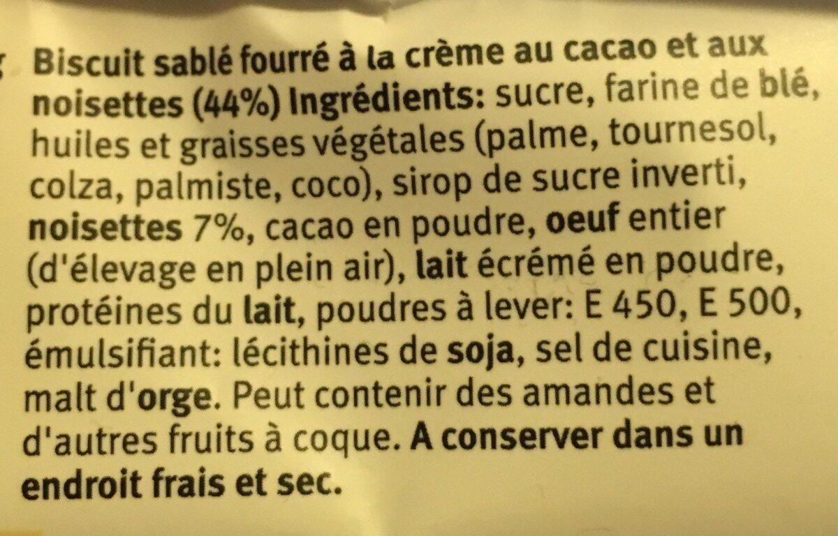 Biscuiterie Fine À Meilen Tradition Cremisso - Ingrediënten