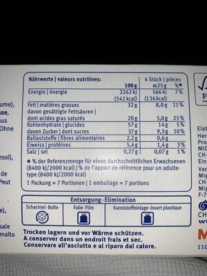 CLASSICO GAUFRETTES AU CHOCOLAT SUISSE - Voedingswaarden - fr