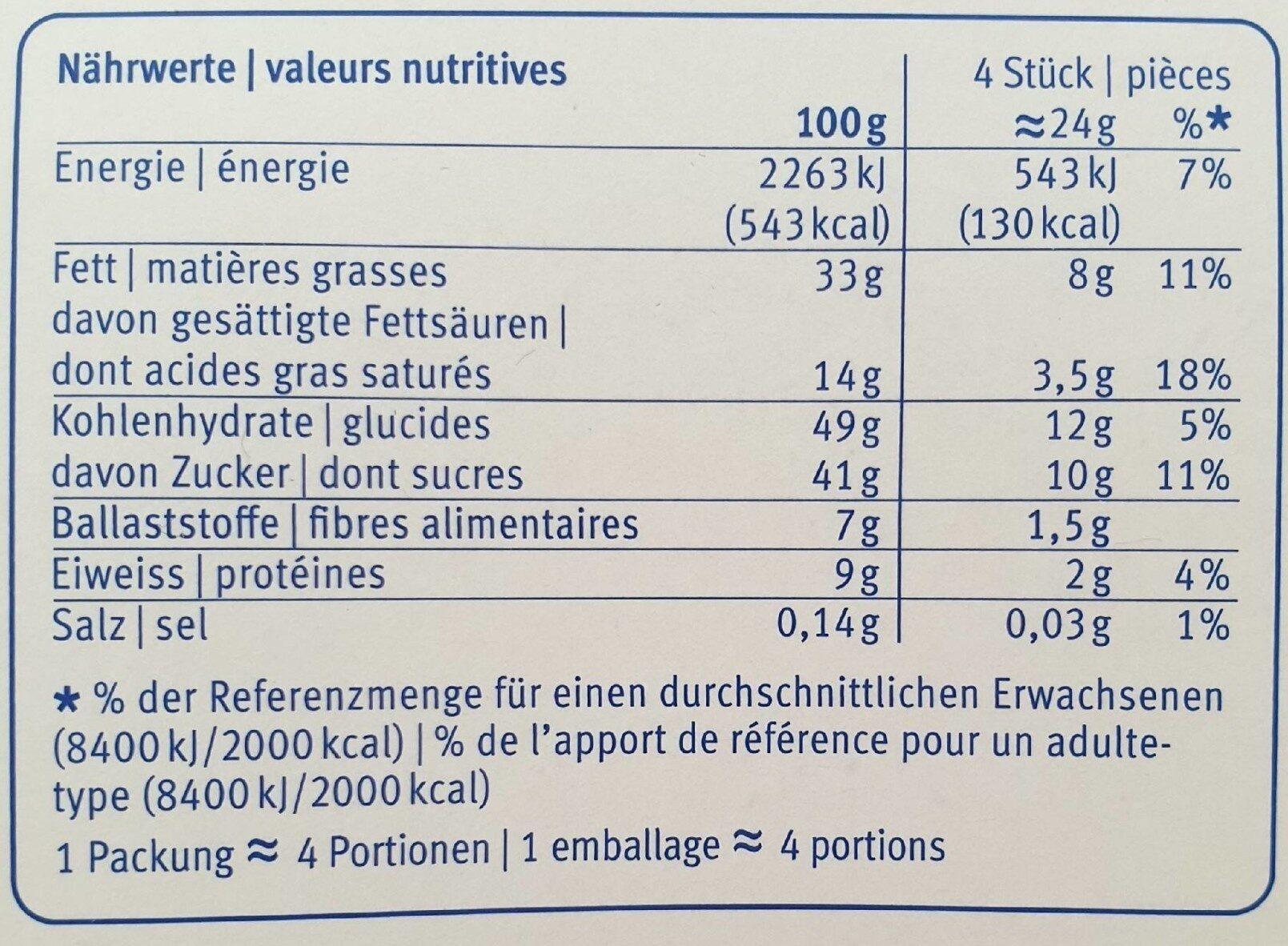 Amande Noire - Voedingswaarden - fr