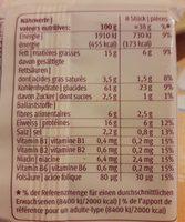 Blévita avec Gruyère AOC - Nutrition facts