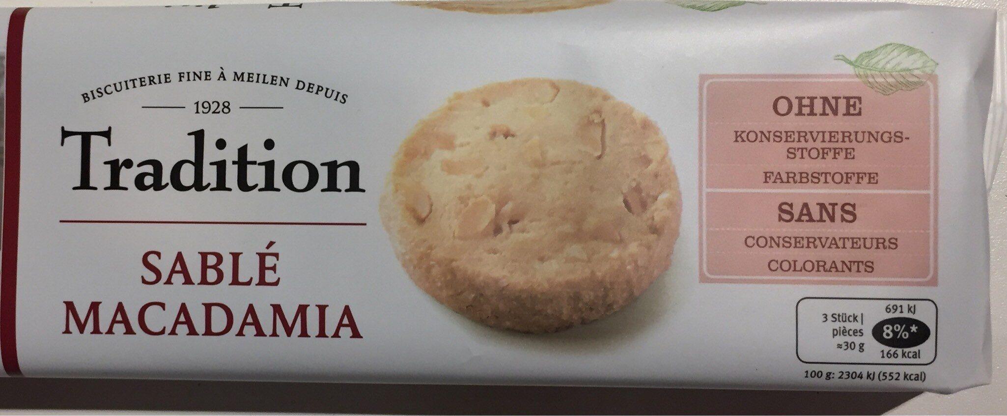Tradition Sablé macadamia - Product - fr