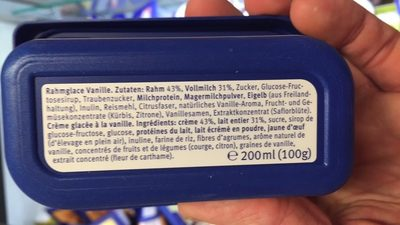 Vanille bourbon - Ingredients