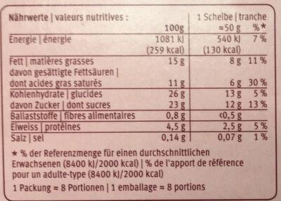 Japonais Ice Cake - Nutrition facts - fr