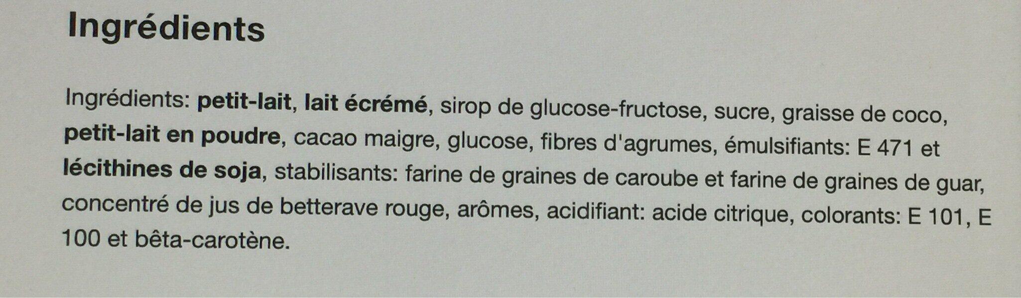 Tre colori (vanille, fraise, chocolat) - Ingredients