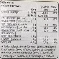 Vanille 8x - Valori nutrizionali - fr