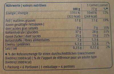 Stracciatella Italiana - Valori nutrizionali - fr