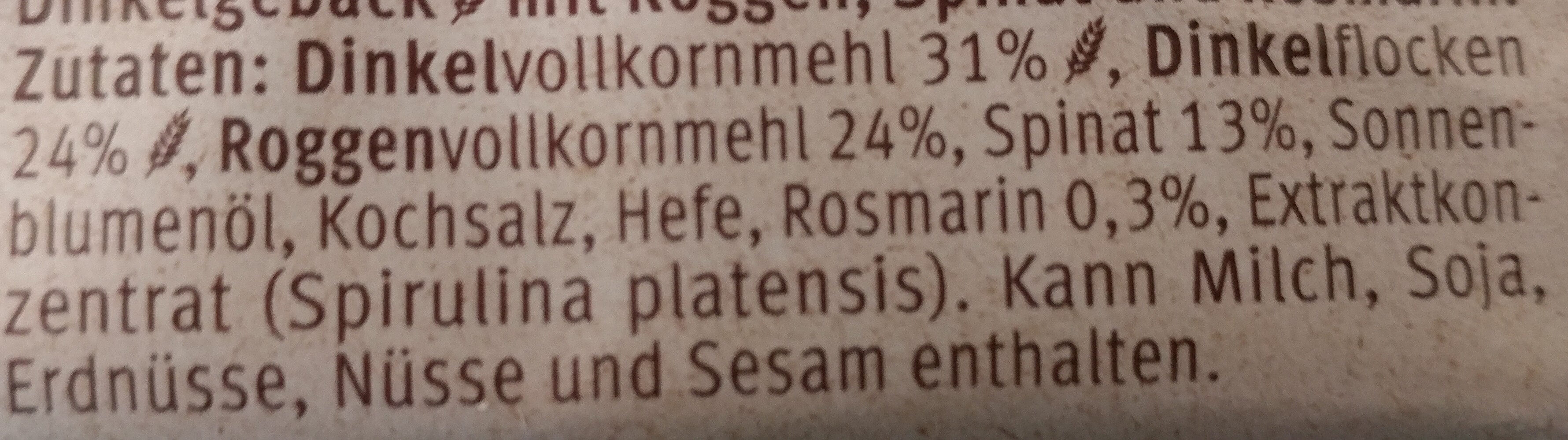 Rosmarin Spinat - Ingredienti - de