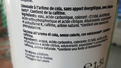 Cola zero - Ingredienti - fr