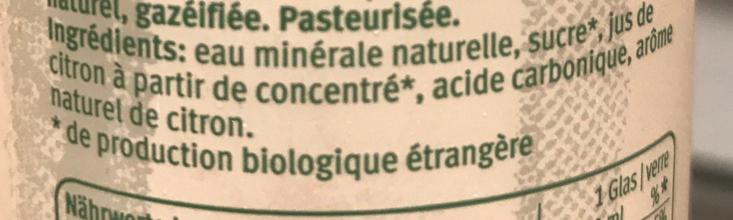 Liminade citron - Ingredients - fr