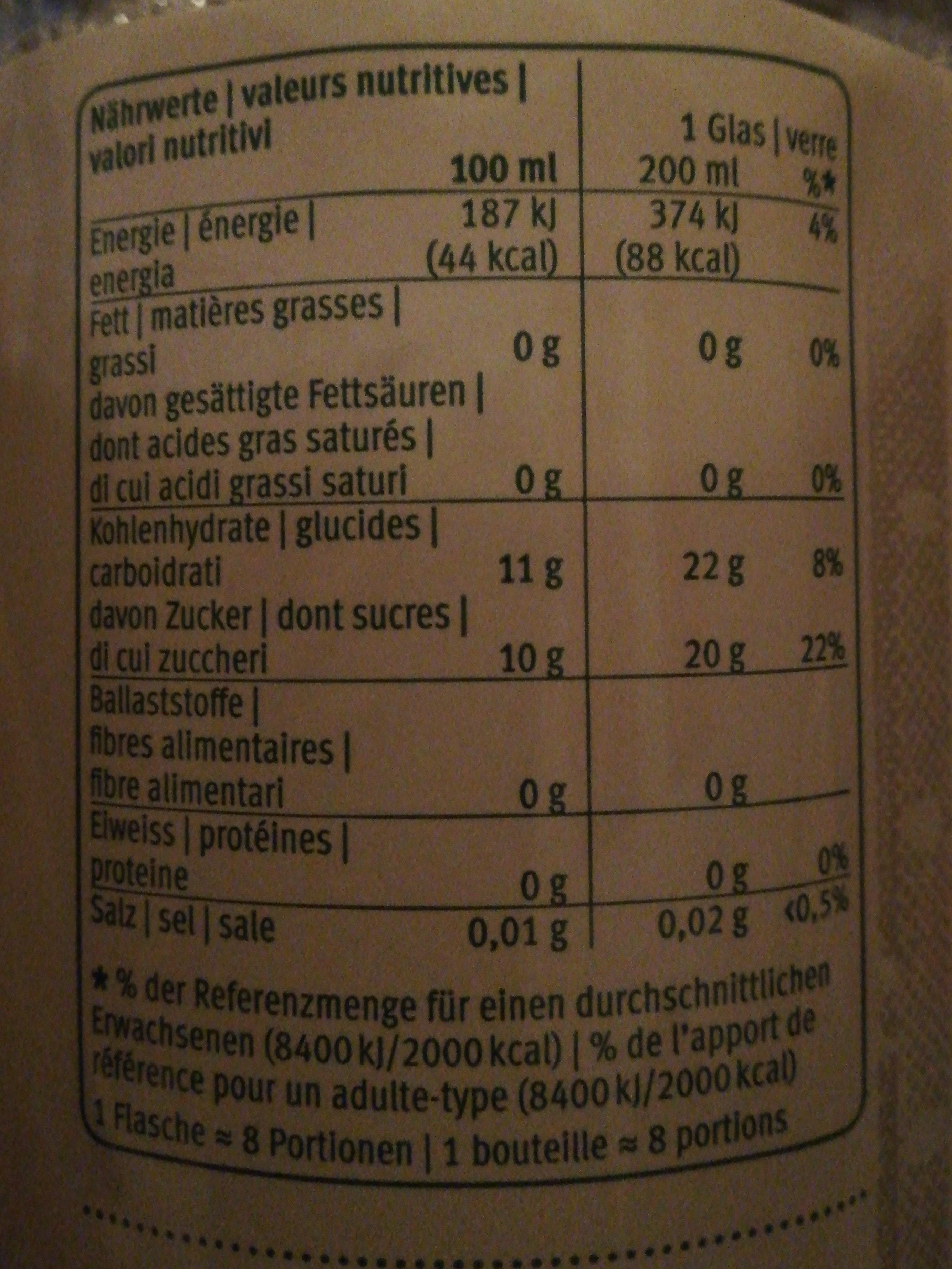 Jus de pomme - Ingredients