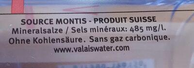 Valais Naturelle - Migros - 33 CL - Nutrition facts