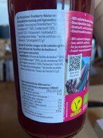 Biotta Airelles rouges Plus - Ingredienti - fr