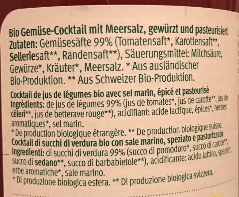 Gemüsecocktail BIO - Ingredients - de