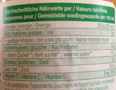 Biotta Vita 7 - Voedingswaarden