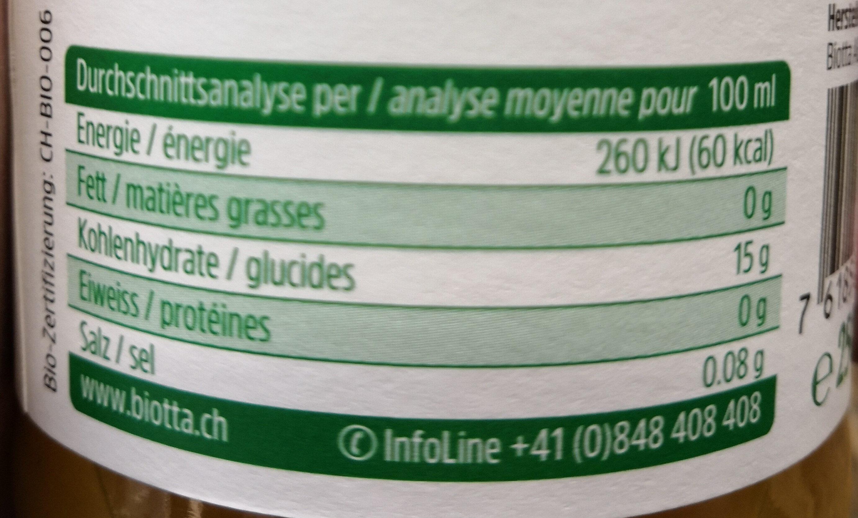 Mango mix - Nutrition facts - fr