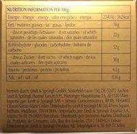 Swiss Premium Chocolate Chocolats Assortis - Voedingswaarden - fr