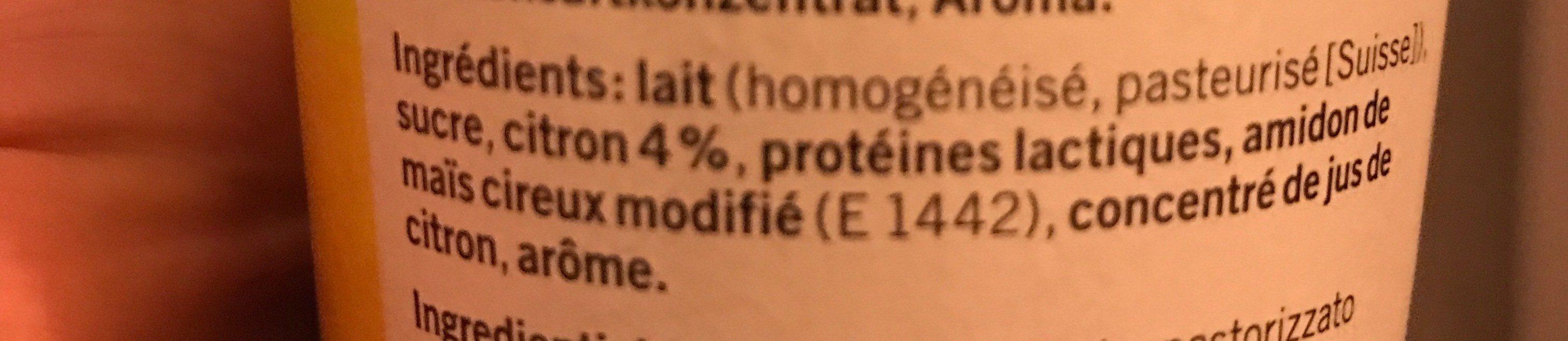 Yougurt au citron - Ingrédients