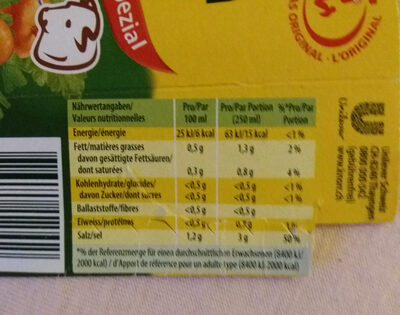 Bouillon de Bœuf spécial - Nutrition facts