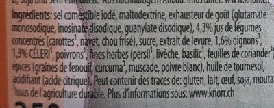 Fond De Légumes Granulé - Ingredienti - fr