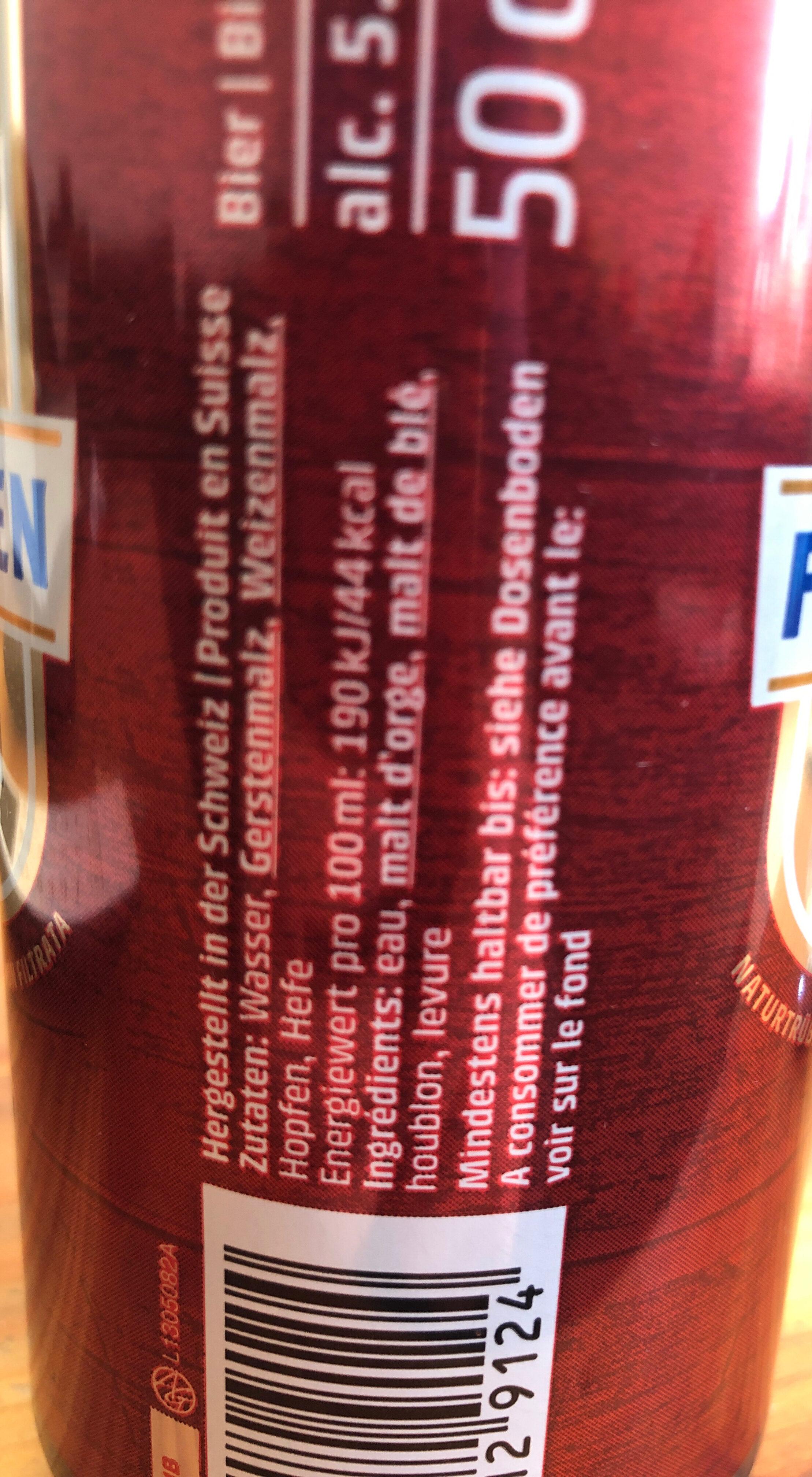 FELDSCHLÖSSCHEN BRAUFRISCH - Ingrediënten