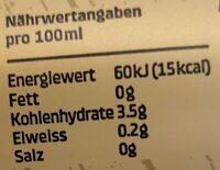 Feldschlösschen sans alcool - Nutrition facts - de