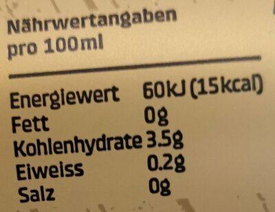 Feldschlösschen sans alcool - Nutrition facts