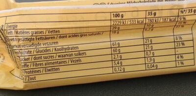 Toblerone - Nährwertangaben - de