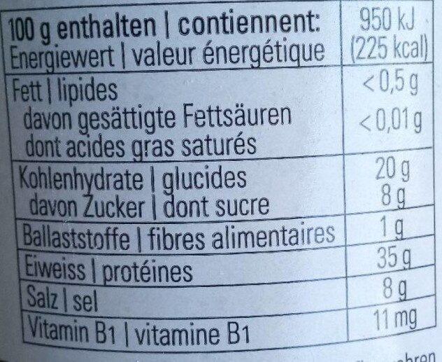 Cenovis - Informations nutritionnelles - fr