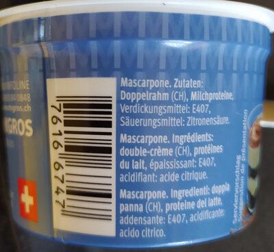 Mascarpone - Ingrédients - de