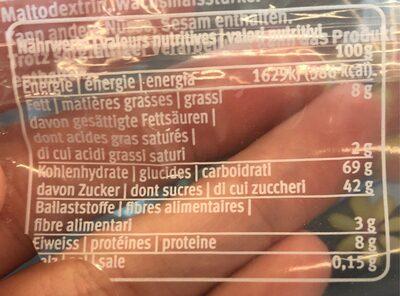 Pain d'épice fourré aux amandes - Nutrition facts