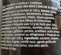 Favorit les spécialités baies des bois - Ingrédients - fr