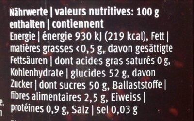 Favorit les spécialités baies des bois - Informations nutritionnelles - fr