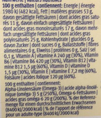 Margarine - Nutrition facts - en