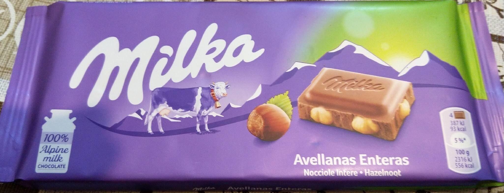 Milka Avellanas Enteras - Product - pt
