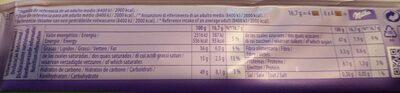 Milka Avellanas Enteras - Nutrition facts - pt