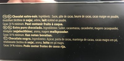 Chocolat noir - Ingredients