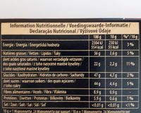 Chocolat noir - Nutrition facts