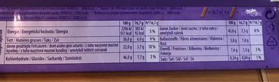 Milka Zartherb 100G - Informations nutritionnelles - fr