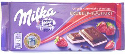 Czekolada mleczna z mleka alpejskiego z nadzieniem o smaku truskawkowym (51%) - Product