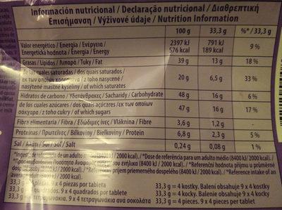 Chocolate con leche y almendras - Informations nutritionnelles - es