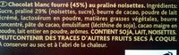 Praliné Fondant blanc - Ingrédients - fr