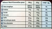 Praliné Fondant blanc - Informations nutritionnelles - fr