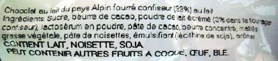 Oeufs de Pâques Tendre au lait Milka - Ingrédients - fr