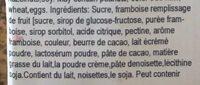Milka - Ingredients - fr