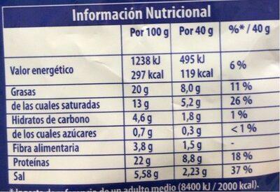 Queso en filatto - Nutrition facts - es