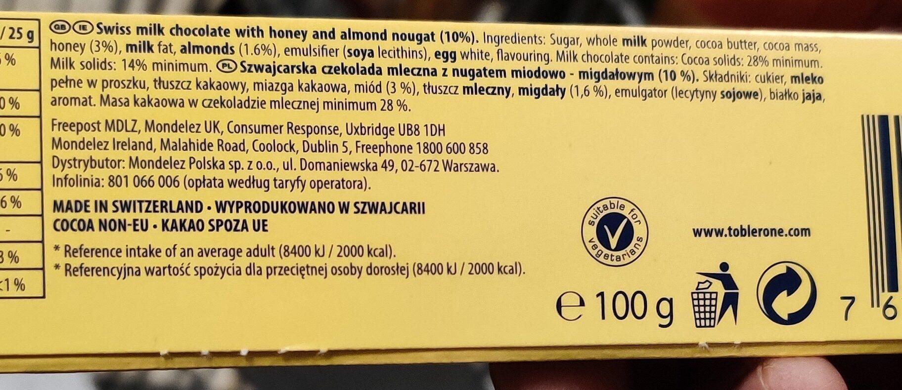 toblerone - Product - en