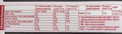 GELATINA ROYAL - Informació nutricional - es