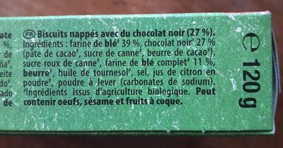 Le NAPPÉ chocolat noir - Ingrédients - fr