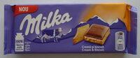 Milka Cremă și biscuit - Produit - ro